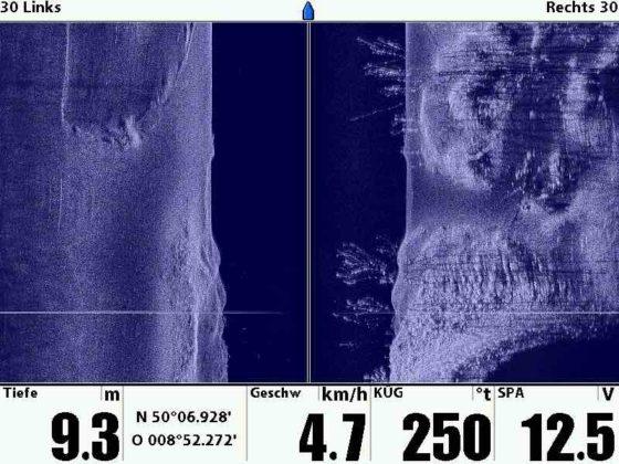 thomas-schlageter - Side Imaging-Aufnähme mit eine Humminbird Echolot