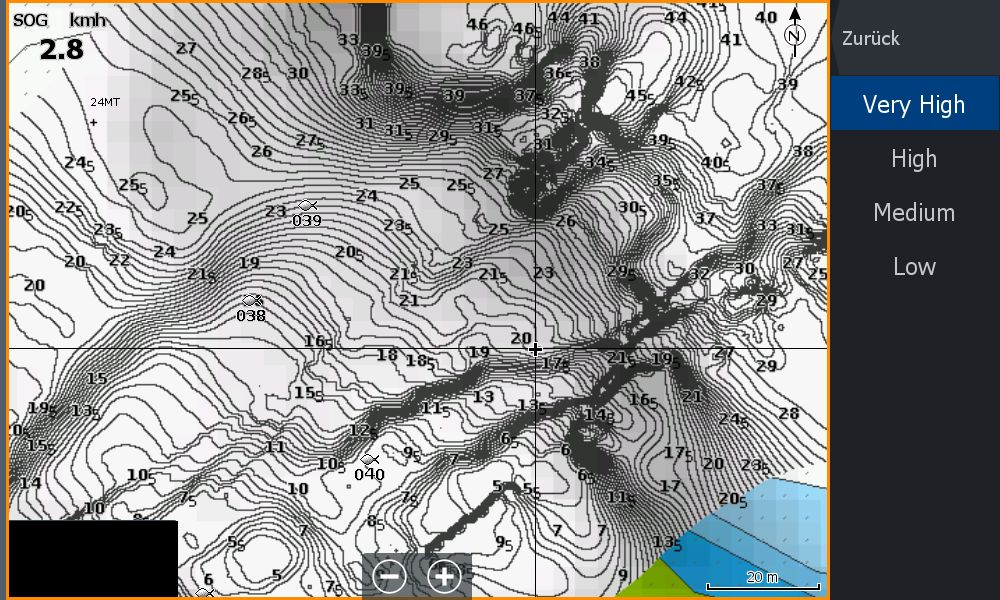 Bild (1) Test Navionics Sonarcharts Live angeln in norwegen SC Density