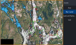 Bild (16) Test Navionics Sonarcharts Live angeln in norwegen Luftbild nur Land