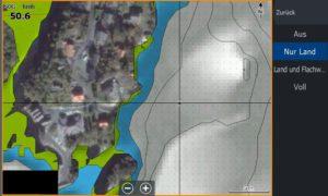 Bild (17) Test Navionics Sonarcharts Live angeln in norwegen Luftbild Land zoom