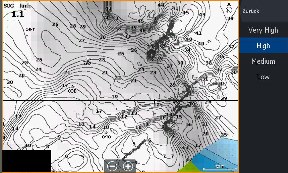 Bild (2) Test Navionics Sonarcharts Live angeln in norwegen SC Density