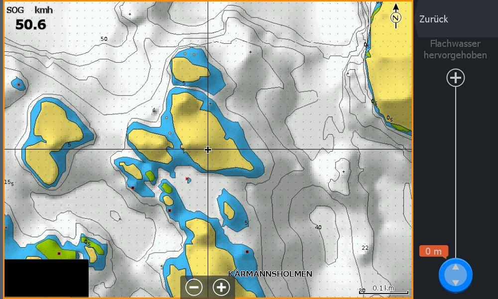 Test Navionics Sonarcharts Live angeln in norwegen Map ohne Flachwasserbereich