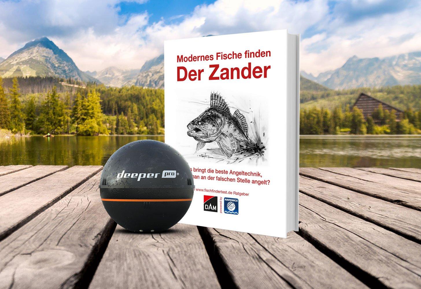 """DEEPER Pro Plus & dazu geschenkt """"Modernes Fische finden – Der Zander"""" * ☀️☀️☀️ Sommerferien-Special!"""