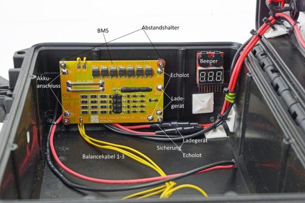 Echolot Tipp - Akku - Schritt 4 - Einsetzen der Bauteile