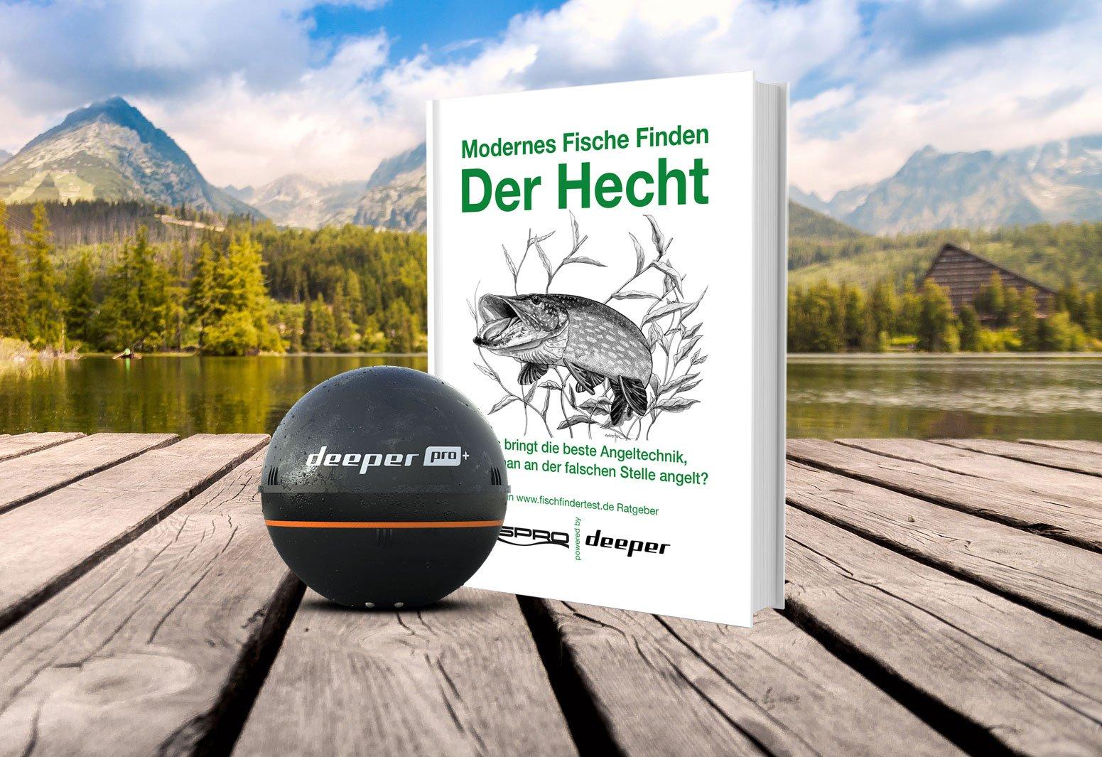 """DEEPER Pro Plus & dazu geschenkt """"Modernes Fische finden – Der Hecht"""" * ☀️☀️☀️ Sommerferien-Special!"""