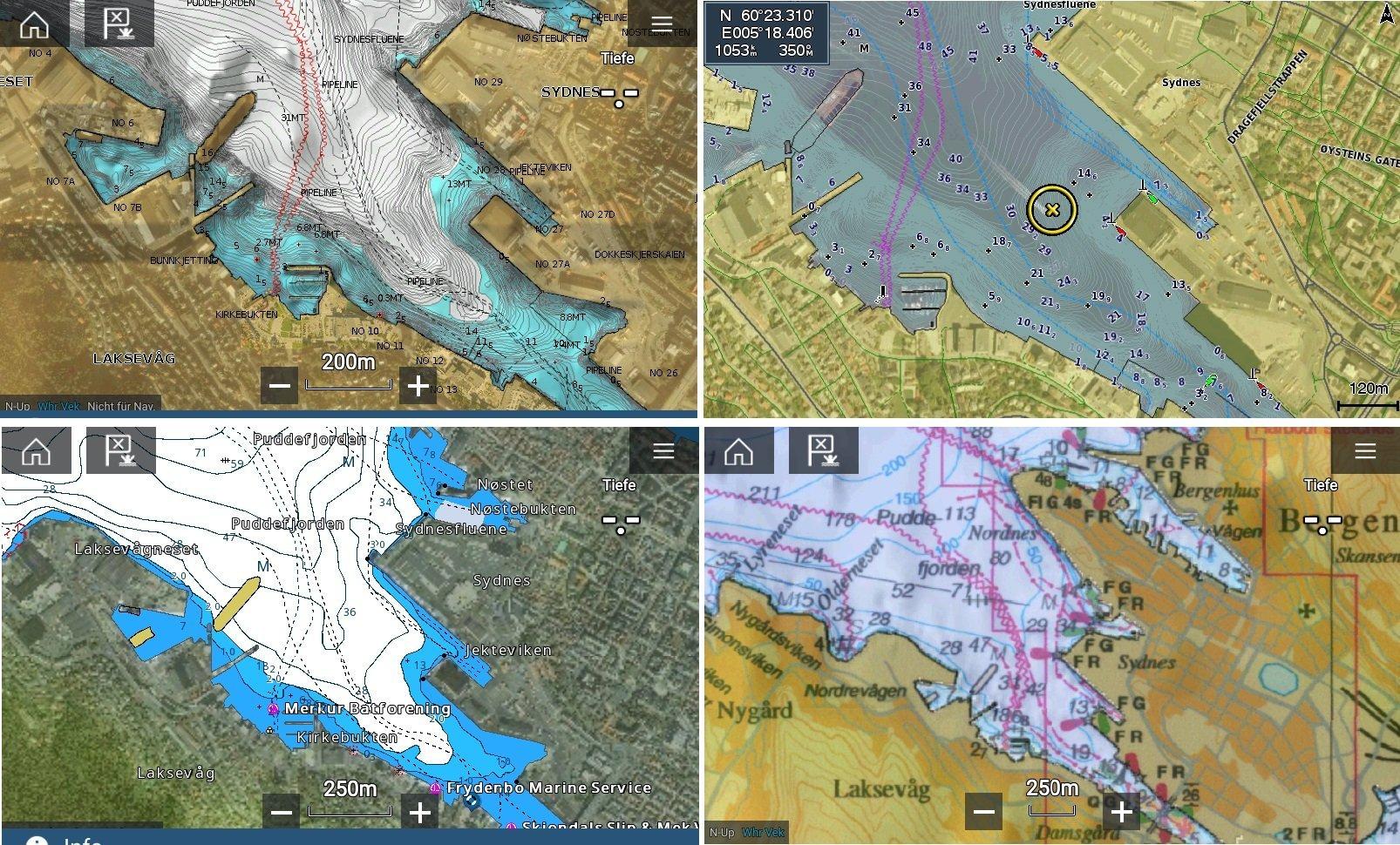 Echolot Dreikampf in der Mittelklasse - GPS Kartenplotter