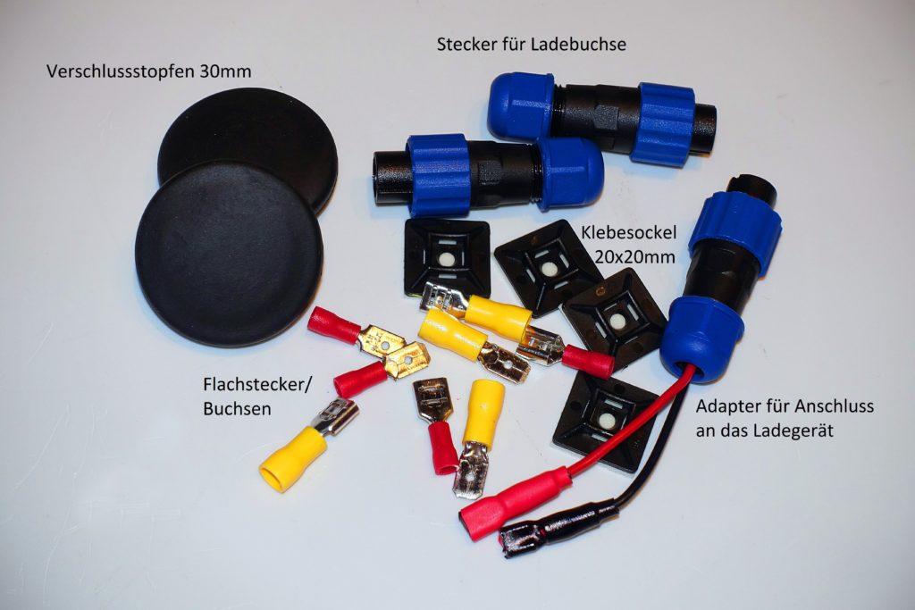 Abb.11 Garmin LiveScope Praxistest, Kleinteile für Echolotbox Montage Echolot