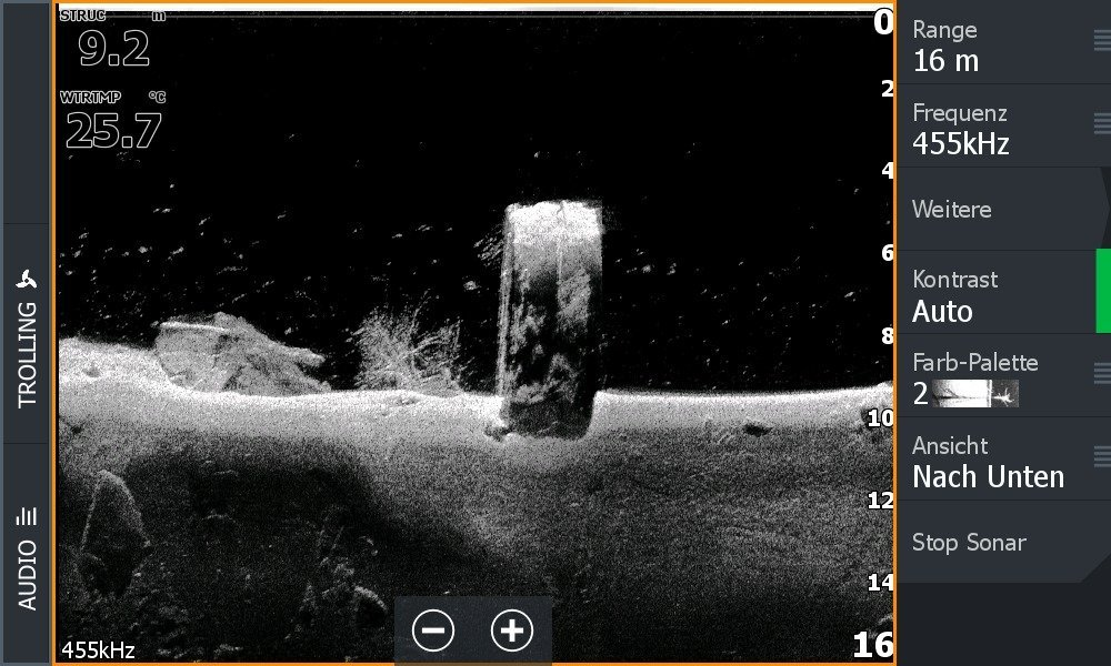Lowrance HDS Carbon Structure Scan Echolotbild